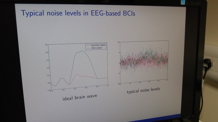 The disparity between ideal brainwaves and typical signals shows how difficult the task is