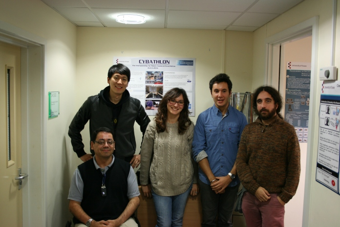 The Brainstormers team: (From left to right) Youngjae Song, Dr Francisco Sepulveda (lower row), Ana Matran-Fernandez, Davide Valeriani, Dr Javier Asenso-Cubero
